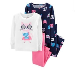 2t 3t 5t Girls 4piece pajama set